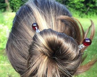 Glass Hair Sticks