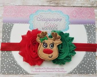 Christmas Headband, Reindeer Headband, Christmas Baby Headband, Infant Headband, Newborn headband, Toddler Headband, Girls Headband