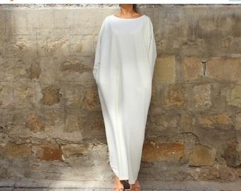 SALE ON 20 % OFF Off White Maxi dress, Caftan, Plus size dress, Plus size clothing, Abaya, Caftan dress, Oversized dress, Fall Winter Dress