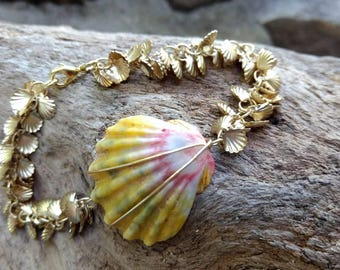 Hawaiian Sunrise Shell Bracelet