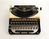 Gold Typewriter Remie Scout w/ rare Art Gothic Font