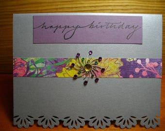 Silver Birthday Queen 2 Single Card
