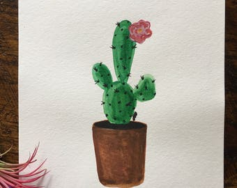 Blooming Cactus Painting