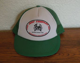 Vintage Trucker Snapback Hat- The Judy Company- Green and White