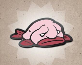 Benevolent Blobfish Hard Enamel Pin