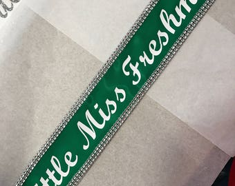 Miss Argentina, Miss America sash, Halloween Prop, Homecoming , Prom Queen, Miss America, Beauty Queen,Miss USA Any Color any wording