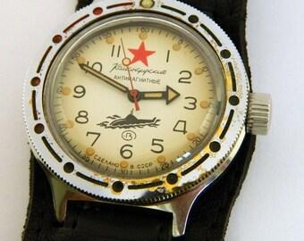 USSR Russian watch Wostok Vostok Komandirskie Amphibian Antimagnetic #240