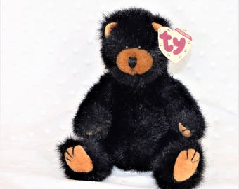 """1993 Ty Attic Treasures """"Ivan"""" Jointed Bear/ Poseable Stuffed Bear/Collectible Stuffed Bear Toy/Good Condition"""