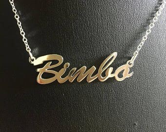 "16"" 'Bimbo' necklace"