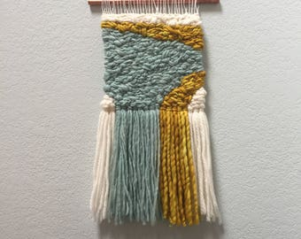 SMEAR | Mint, Ochre and White Large Wall Hanging
