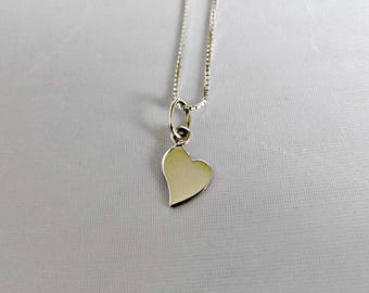 Sterling silver heart necklace, heart necklace, sterling silver, silver heart, silver necklace, heart, heart pendant, gift for her, K8025