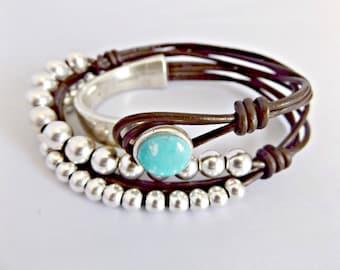 Turquoise bracelet, turquoise, turquoise jewelry, boho bracelet, turquoise cuff, bohemian bracelet, leather bracelet, women bracelet
