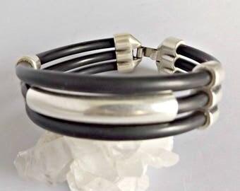 Rubber bracelets, rubber bracelet, rubber jewelry, rubber, mens rubber bracelet, bracelets for men, black rubber, black cord, men bracelet