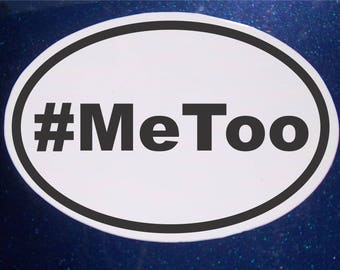Me Too, #MeToo, Abuse Awareness Car Magnet oval Car Magnet
