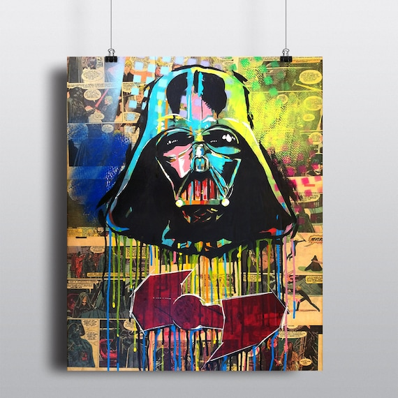 Darth Vader Star Wars Acrylic Painting SIGNED Fine Art Print
