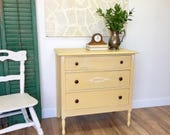 Farmhouse Dresser - Antique Chest of Drawers - Unique Bedroom Furniture - Distressed Dresser - Real Wood Furniture - Hand Painted Dresser