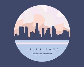 "Los Angeles - La La Land 6x6"" Graphic Design Art Print"