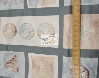 100% Cotton Fabric By Wilmington Prints - Sand And Sea Artifacts - By The Panel (FH-3647) Clothing Decor Accessories