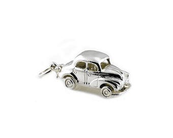 Sterling Silver Opening Morris Minor Car Charm For Bracelets