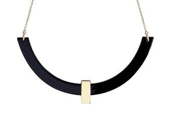 QUITO Necklace Black • choker • géométric • minimalist • christmas • gold • colorful •
