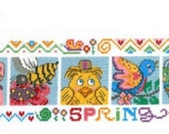 25% OFF SALE Imaginating Spring Friends Cross Stitch Pattern