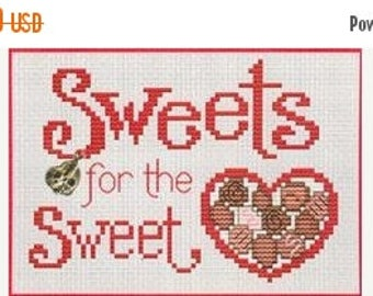 25% OFF SALE Sue Hillis Sweets for the Sweet Cross Stitch Pattern