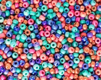Bold Southwest Miyuki 6/0 Czech Glass Seed Bead Mix, 16 grams, Bold Southwest 6/0 Seed Bead Mix - Exclusive Mix to SupplyEmporium, 4963