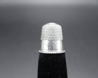 Antique Goldsmith,Stern & Co. Sterling Silver 7 Thimble