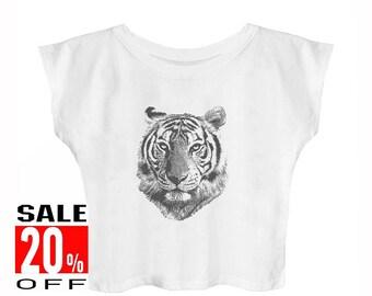 Tiger shirt animal shirt graphic shirt funny quote tshirt hipster graphic shirt slogan shirt women t shirt crop top teen girls shirt