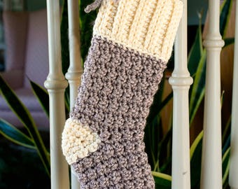 Crochet Pattern for Christmas Stocking, Cozy Cottage, Christmas Decoration, Christmas Gift 17-345