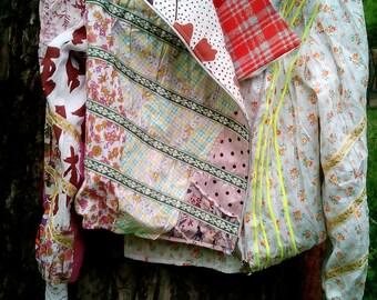 Designer summer jacket  Boho-style UNIQUE clothes Unusual clothes