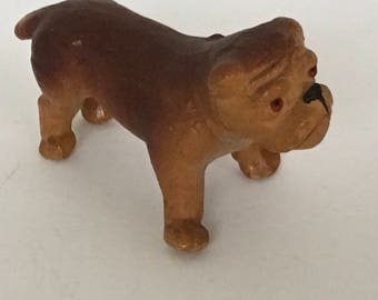 Antique Dollhouse German Boxer Dog