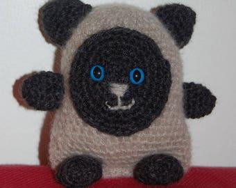 """Doudou """"Simon"""" stuffed Siamese cat - mohair"""