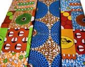 Half yard fabric bundle/ 3 half yard bundle/ Half yard bundle on sale/ African fabric/ Ankara fabric/ Quilting fabric/ Craft supplies/ WB168