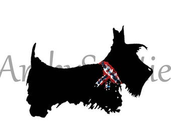 Five Scottie Dog temporary tattoos Scottish Terrier
