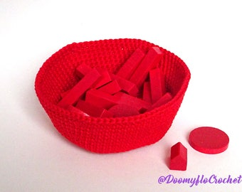 Cup Bowl Board Games Large size cotton crochet for meeples cubes or tokens; Many Colors avalaible