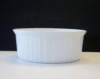 Corning Ware French White F-5-B Casserole Dish