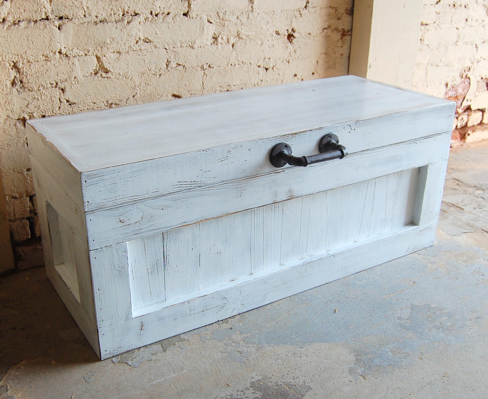 Hope Chest Coffee Table Entry Trunk Wooden Chest White