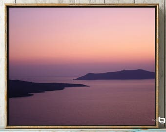 Greece Photography, Sunset In Santorini, Cotton Candy Sunset Photograph, Sunset Photography, Greece Art Print, Wall Art, Travel Photography