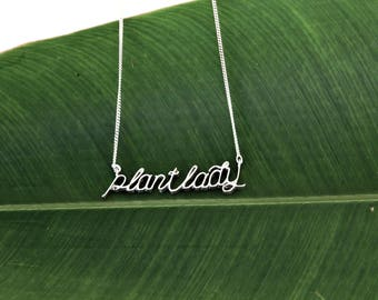 Plant Lady Necklace- Sterling Silver