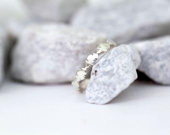 Banana Leaf Stacking Ring- Sterling Silver