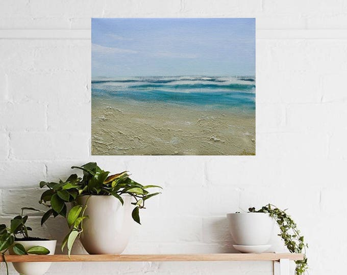 "Beach Painting - Acrylic on Canvas 10"" x 12"" ""Sea Breeze"""