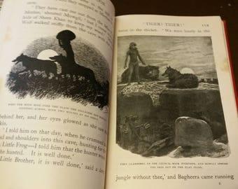 1939 - The Jungle Book - Rudyard Kipling - Illustrated Vintage Hardback