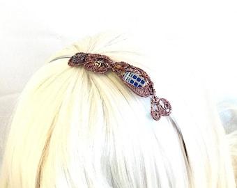Copper Wire Wrap TARDIS Steampunk Headband