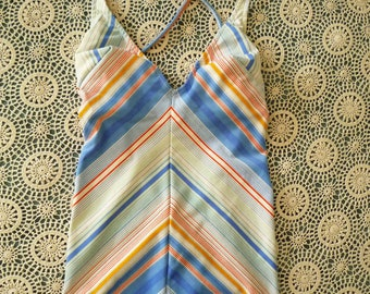 vintage french eyecandy french swimsuit 1970s 1980s backless one piece