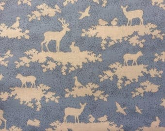 Tilda Forest Light Blue Fabric  / Sweetheart Collection - Fat Quarter / 50 cm x 55 cm
