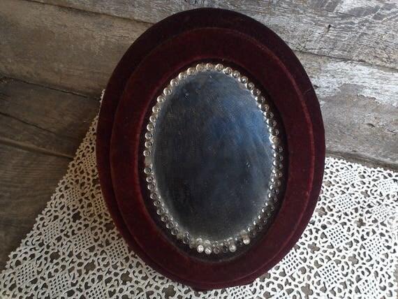 Victorian mirror, edwardian mirror velvet mirror gift for her gift for women wedding gift gift idea christmas gift antique mirror vanity