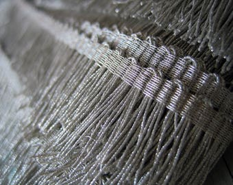 Antique French Silver Metallic Fringe (Ref A-2728 A-2748 Box 7)