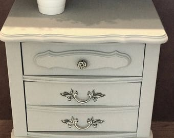Light Grey French Provincial Nightstand