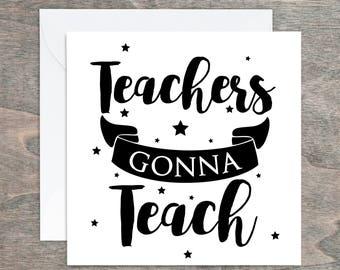 Thank you Card, Boss Teacher,Teacher Appreciation, Teaching Assistant, End of Term, Card for Teacher, Teaching Assistant, Teacher Gift